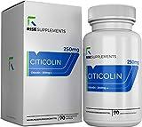 Citicolin (CDP-Cholin) Kapseln [250 mg] | Für Gedächtnis und Konzentration | UNTERSTÜTZT DIE KOGNITIVE FUNKTION | Rise Supplements | Verpackt in ISO-zertifizierten Betrieben in GB