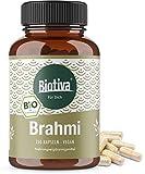 Brahmi Kapseln Bio - 150 Veggie Kapseln - 500mg pro Kapsel - Bacopa Monnieri - Gedächtnispflanze - vegan - ohne Zusatzstoffe - Abgefüllt und kontrolliert in Deutschland (DE-ÖKO-005)
