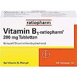 Vitamin B1-ratiopharm 200 mg Tabletten, 100 St. Tabletten