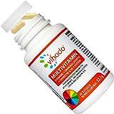Vihado Multivitamin A-Z Kapseln hochdosiert, 26 Vitamine + Multimineral Mineralstoffe + Q10 + Tagetes Erecta, nur 1 Kapsel am Tag, 60 Kapseln